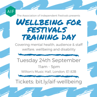 AIF announces Wellbeing for Festivals Training Day