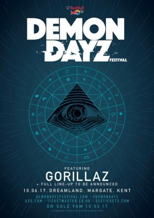 GORILLAZ TO CURATE AND HEADLINE NEW DEMON DAYZ FESTIVAL